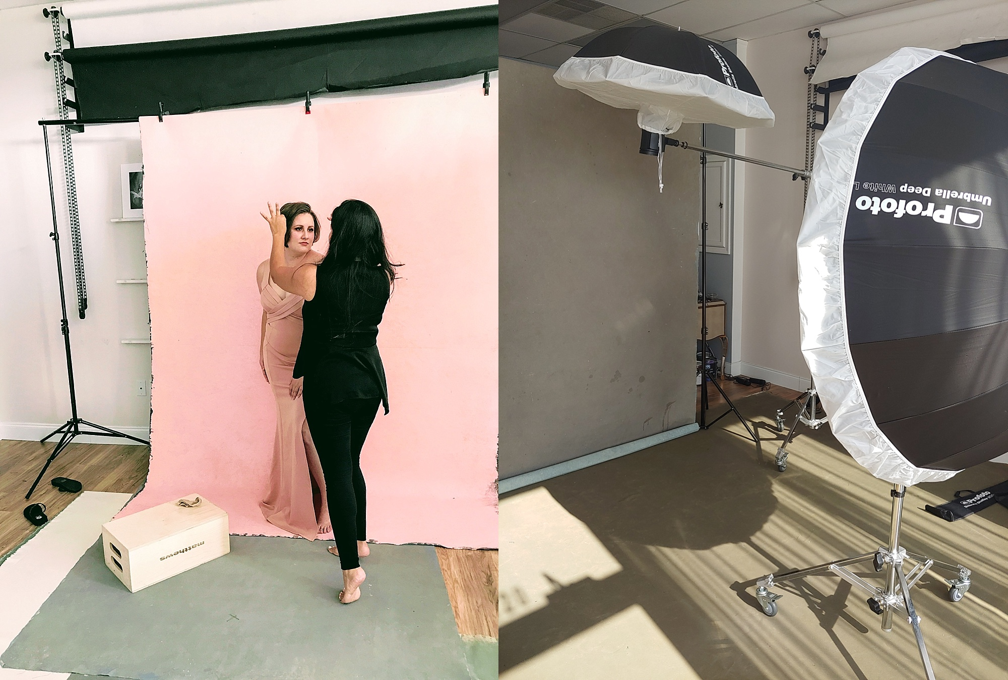 Behind the scenes, photography studio, indoor photography lighting, The Portrait System Podcast, Sue Bryce Education, Photography Business and Marketing, Saray Taylor Roman, Portrait Photographer