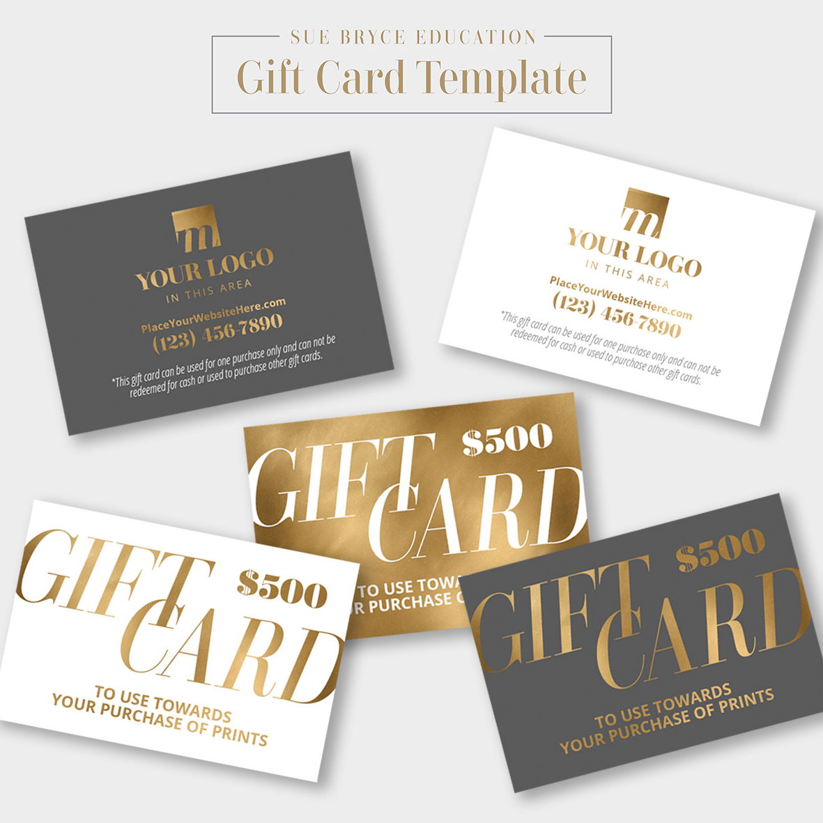 gold foil gift card template sue bryce education. Black Bedroom Furniture Sets. Home Design Ideas